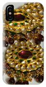 Cross Section Of A Purple And Yellow Gold Beautiful Necklace IPhone Case
