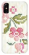 Cross Stitch Flower 1 IPhone Case