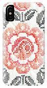 Cross Stitch Roses IPhone Case