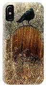 Crow On Old Wooden Grave IPhone Case