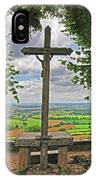 Crucifix Overlooking The French Countryside IPhone Case