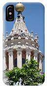 Cupola Atop St Peters Basilica Vatican City Italy IPhone Case