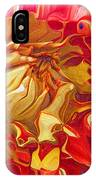 Red And Yellow Dahlia IPhone Case