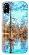 Cypress Swamp In Winter IPhone Case