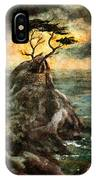 Cypress Tree In Storm IPhone Case