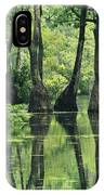 Cypress Trees Cross A Waterway IPhone Case