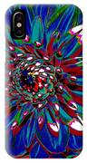 Dahlia With Intense Primaries Effect IPhone Case