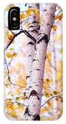 Dancing Birches IPhone Case