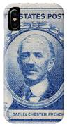Daniel Chester French Postage Stamp IPhone Case