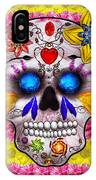 Day Of The Dead - Death Mask IPhone Case