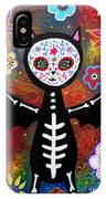 Day Of The Dead Bat IPhone Case