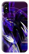 Deep Purple Abstract IPhone Case