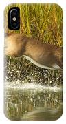 Deer Running Through The Salt Marsh IPhone Case