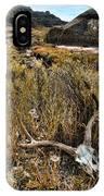 Deer Skull In Montana Badlands IPhone Case
