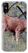 Deer Standing In Wildflowers IPhone Case
