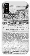Deere Plow, 1869 IPhone Case