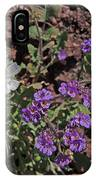 Desert Chicory And Heliotrope IPhone Case