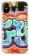 Detail Of A Spray-paint Graffiti IPhone Case