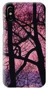 Detail Of Bare Trees Silhouetted IPhone Case