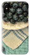 Dish Of Fresh Blueberries IPhone Case