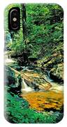 Distant Ozone Falls And Rapids - Summer IPhone Case