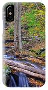 Distant Ozone Falls And Rapids In Autumn IPhone Case