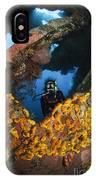 Diver Explores The Liberty Wreck, Bali IPhone Case
