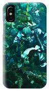 Diver Feeding Fish IPhone Case