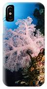 Diver Over Soft Coral Seascape IPhone Case
