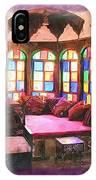 Do-00520 Emir Bachir Palace Interior-violet Bkgd IPhone Case