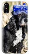 Dog With Diving Mask IPhone Case