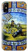 Don Quixote In Spanish Tile IPhone Case