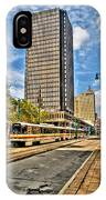 Downtown Buffalo Metro Rail  Heading To The Erie Canal Harbor IPhone Case