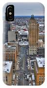 Downtown Court St Winter Scene IPhone Case