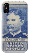 Dr Walter Reed Postage Stamp IPhone Case