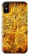 Dragon Painting On Old Paper IPhone Case