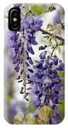 Draping Lavender Purple Wisteria Vines IPhone Case