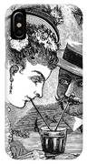 Drinking, 1875 IPhone Case