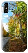 Driving Though The Birches IPhone Case