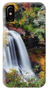 Dry Falls Or Upper Cullasaja Falls IPhone Case