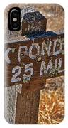 Duck Pond Trail IPhone Case
