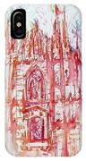 Duomo City Of Milan In Italy Portrait IPhone Case