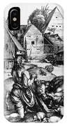 Durer: Prodigal Son, 1496 IPhone Case
