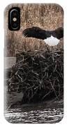 Eagle Landing IPhone Case