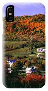 East Orange Village In Fall, Vermont IPhone Case