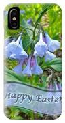 Easter Card - Virginia Bluebells IPhone Case