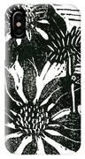 Echinacea Block Print IPhone Case