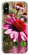Echinacea In Water IPhone Case