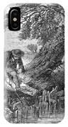 Eel Fishing, 1850 IPhone Case