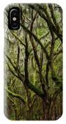 Eerie Oaks Wormsloe Plantation Savannah Georgia IPhone Case